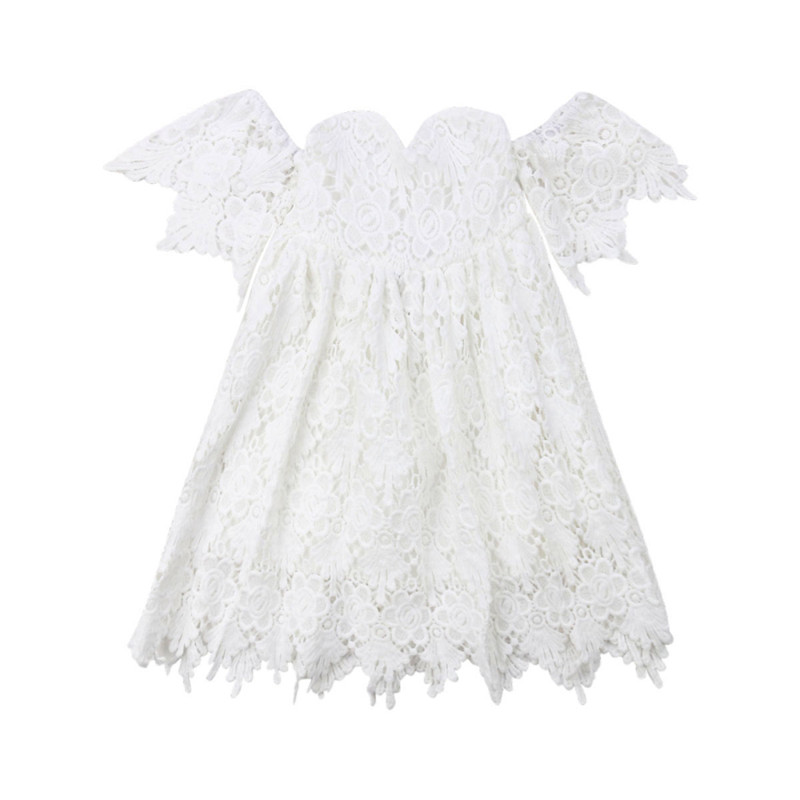 Gprince Baby Girls Toddler Floral Lace Strapless off Shoulder Ruffle Tube Top and Shorts Clothes Set