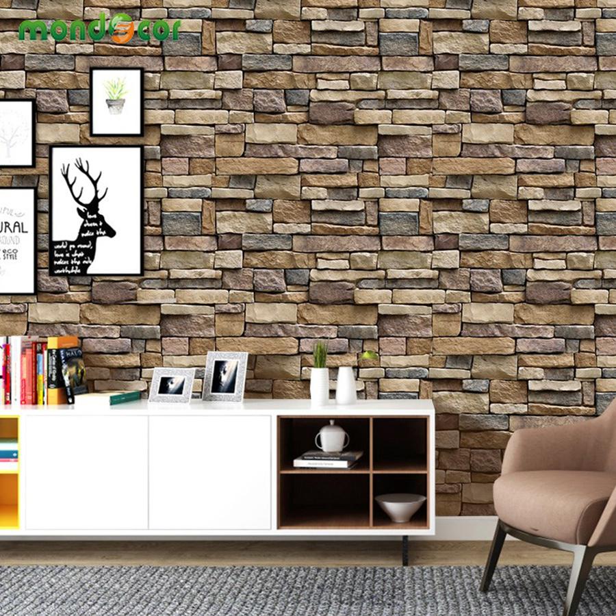 Papier Peint Brique Cuisine fond d'écran auto-adhésif mur étanche revêtement stickers cuisine chambre  salon tv backdrop brique rustique fond d'écran
