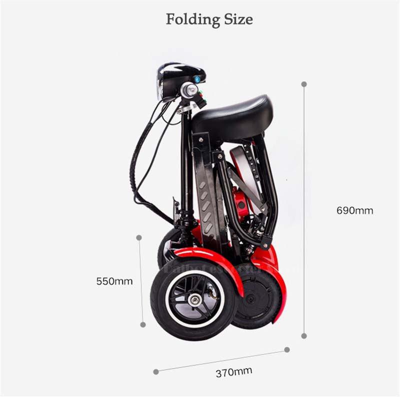 Daibot Four Wheel Electric Skateboard Portable Electric Scooters 10 Inch 36V Foldable Electric Scooter For DisabledElderly (12)