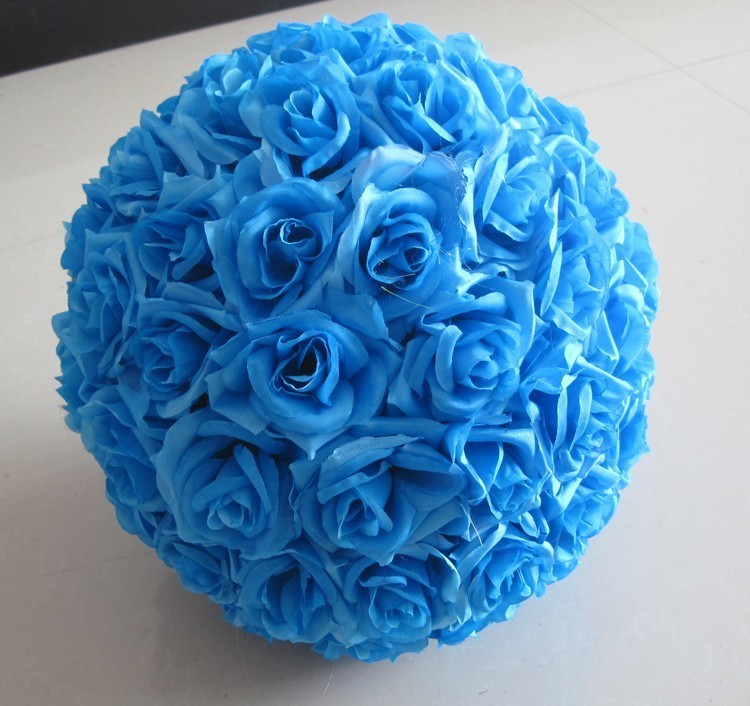 10inch (25cm) Wedding Kissing Balls Pomanders Romantic Silk Flower Kissing Balls Factory Wholesale (3)