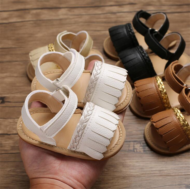 Can Pay RMB Hot selling anti-slip TPR outsole summer baby girl shoes girl sandals