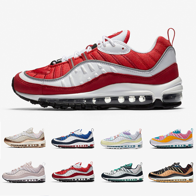 Homme 2020 Chaude Nike Air Max 98 OG ??Gym Red?? Vente
