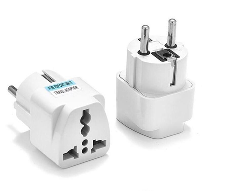 1 X Travel Adapter Plug Converts 3 pin to 2 pin Dual USB Chargers UK// USA// e8