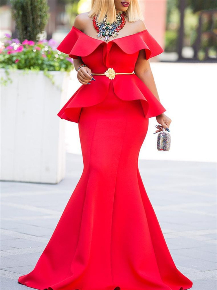 Women Maxi Party Dress Fake Two Pieces Sets Sexy Ruffle Tight Elegant Celebrate Dinner Party Club Evening Long Bodycon Robes T5190613