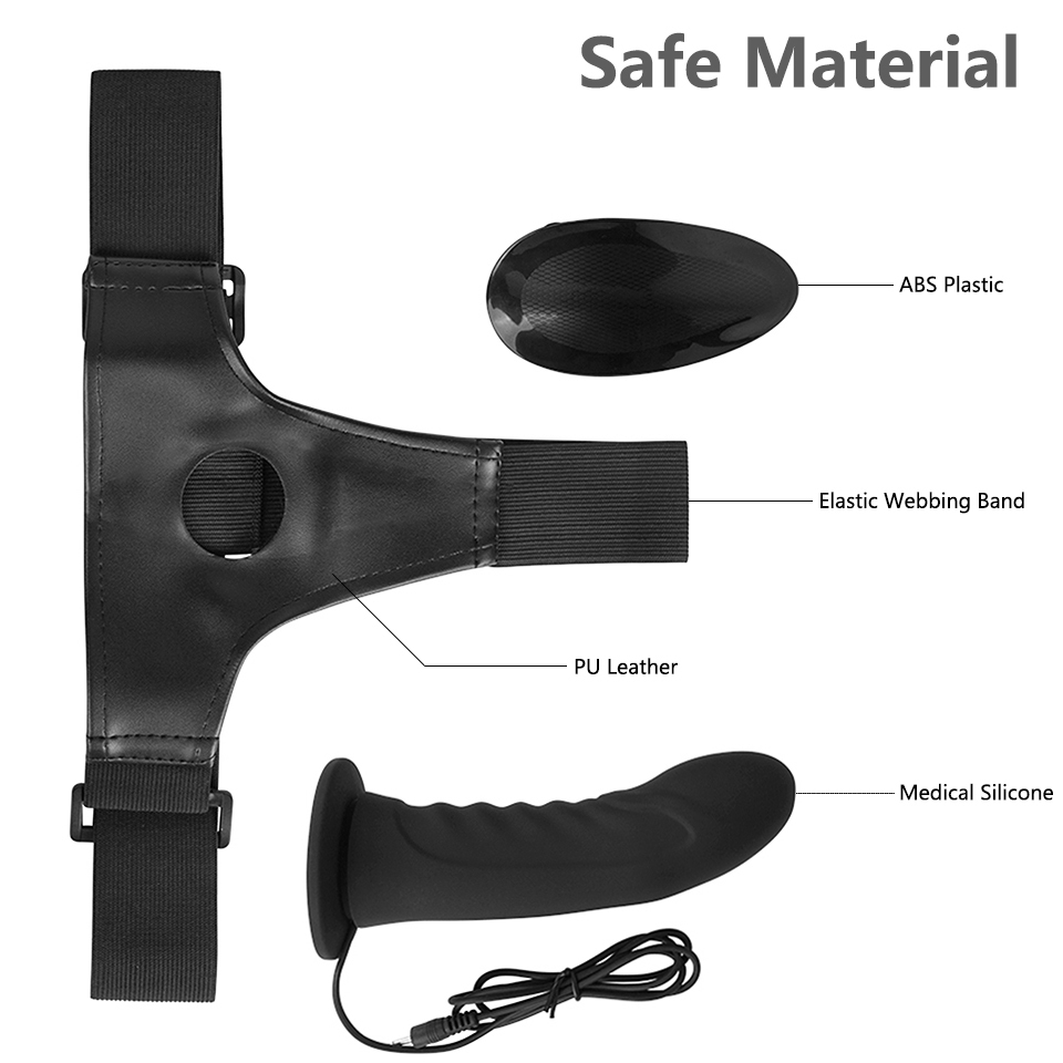 Erotic Silicone Multi Speed Strap-on Dildo Vibrator Men Hollow Strap on Penis Harness Lesbian Strapon Dick Sex Toys for Couples S18101905