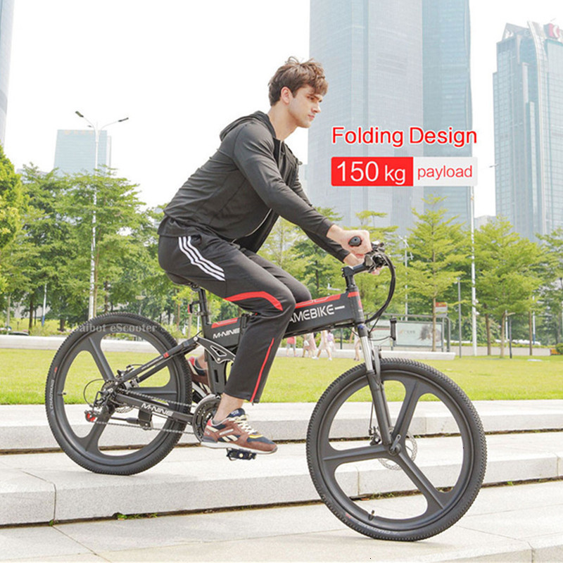 Powerful Electric Bicycle 2 Wheels Electric Bicycles 21 Speed 35KMH 48V 350W Folding Electric Scooter With Removable Battery (11)