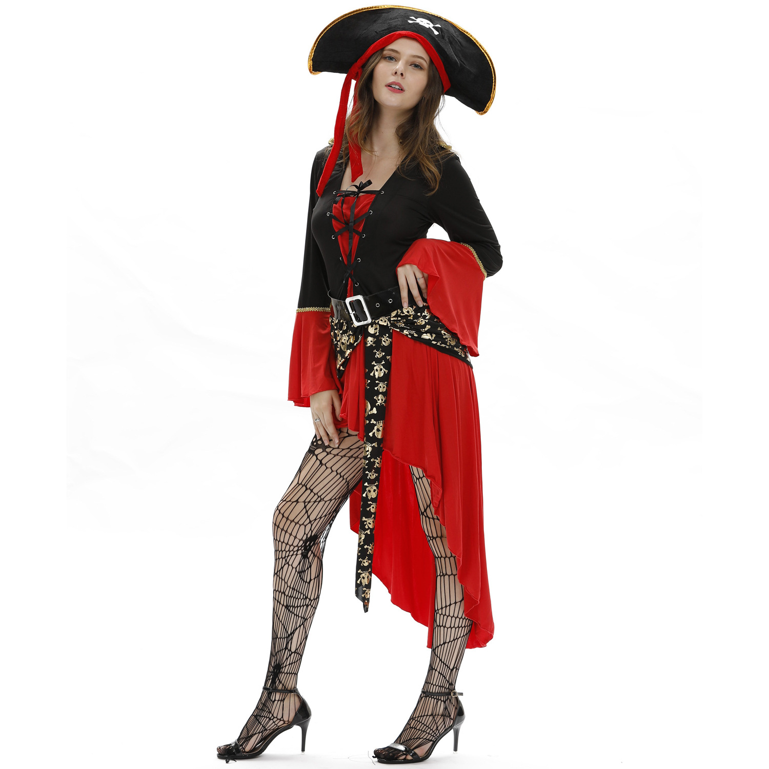 Halloween Funny Cute Corsair Pirate Freebooter Hat Party Costume Size For Adults