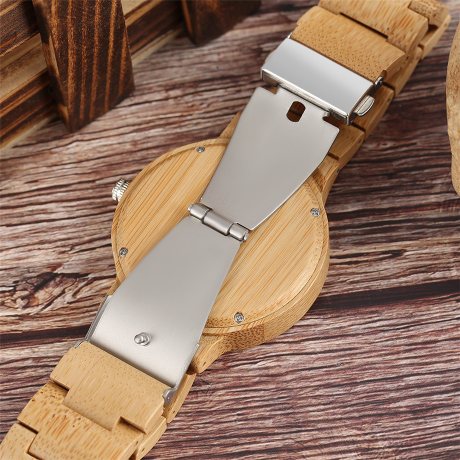 YISUYA Minimalist Full Wooden Watches Women Men Bamboo Wood Bracelet Fashion Creative Quartz Wristwatch Handmade Gifts Casual Clock Hour (26)