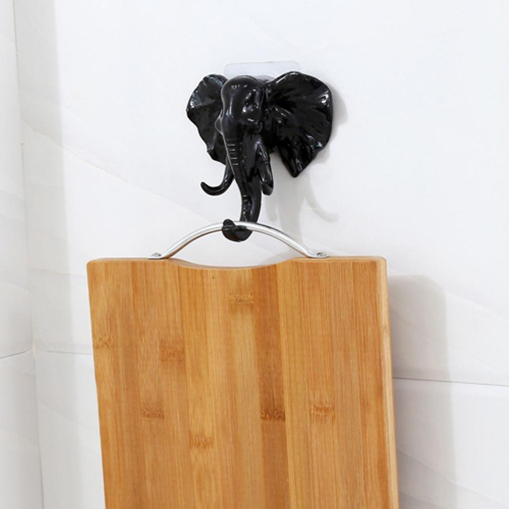 Hot Cartoon Animal Resin Sticky Hook Ropa Abrigo Sombrero Hanger Cocina Baño Ganchos de Toalla Inoxidables Inicio Decoraiton SH190717