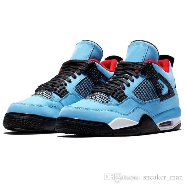 JUMPMAN 4s IV Mens Travis Scott Shoes Cool Grey 4 New Bred 4 Raptors Trainers Hot Punch What The Womens Sneakers 5-13