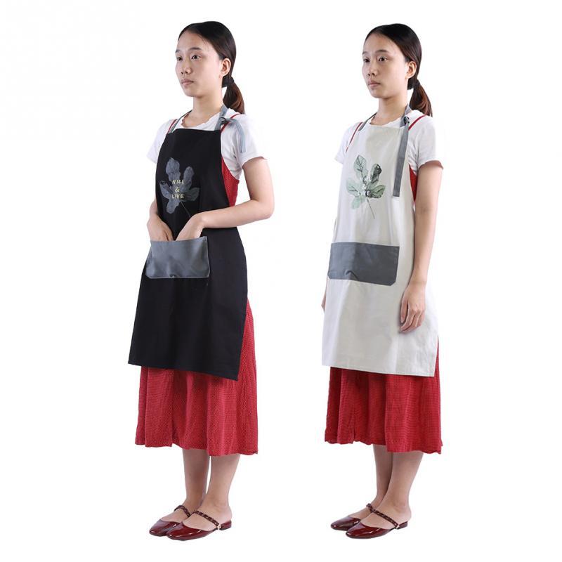 Schürze Baumwoll Kochschürze Kittelschürze Kochuniform mit Tasche 1 Stk