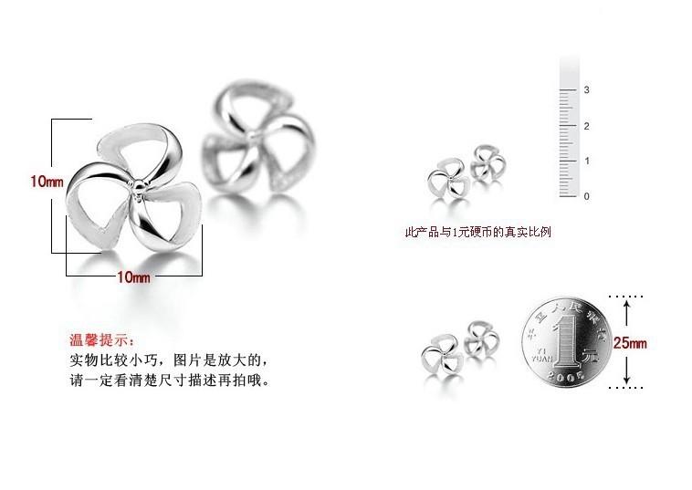 OMHXZJ Wholesale Fashion jewelry Lucky flowers and plants Hot wheels 925 sterling silver Stud earrings YS60