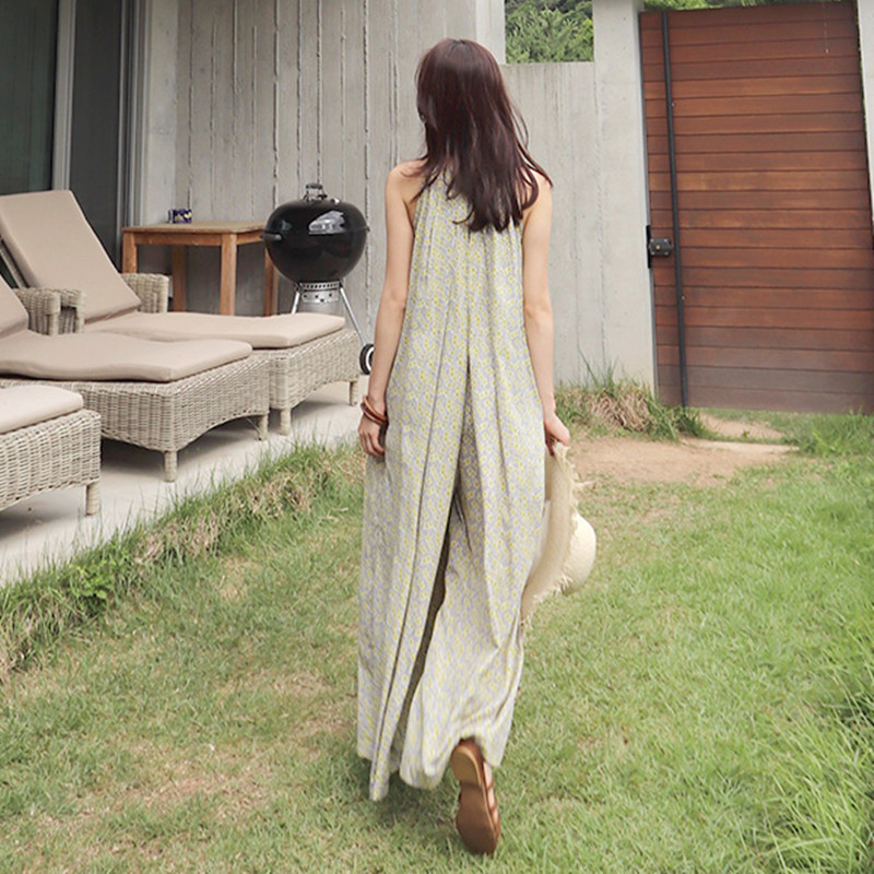 SuperAen Summer Korean Style Women Jumpsuits Wide Leg Pants Pluz Size Chiffon Jumpsuits Casual Loose Fashion Jumpsuits New 2018 T5190614