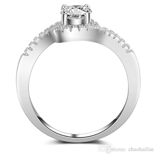 ZHF Jewelry 2019 Vintage Style 1 Ct Created Diamond Solid 925 Sterling Silver Bridal Wedding Engagement Ring Jewelry