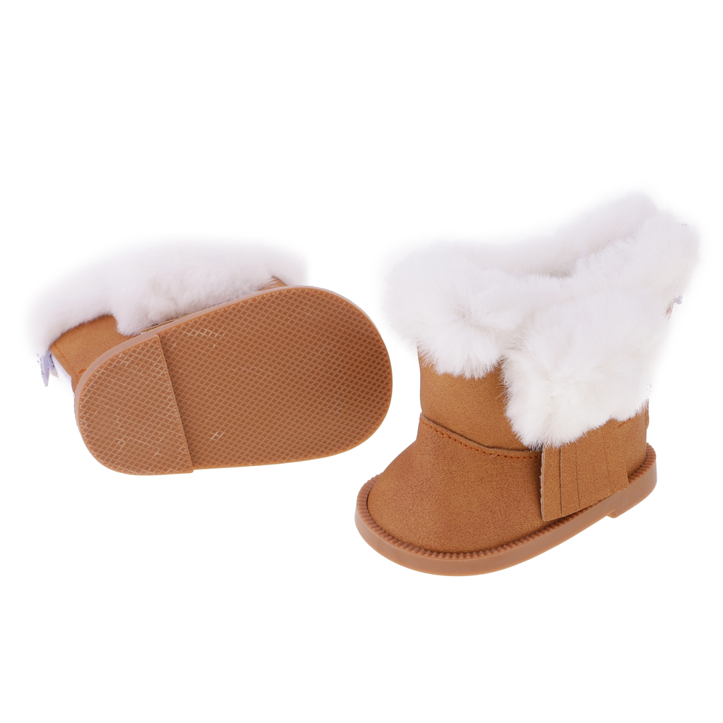 Lovely Zip Snow Boots Flat Princess Shoes for American Girl 18inch Doll Clothes Accessories