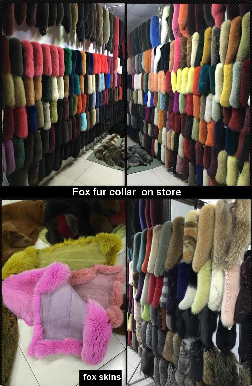 fox fur collars on store