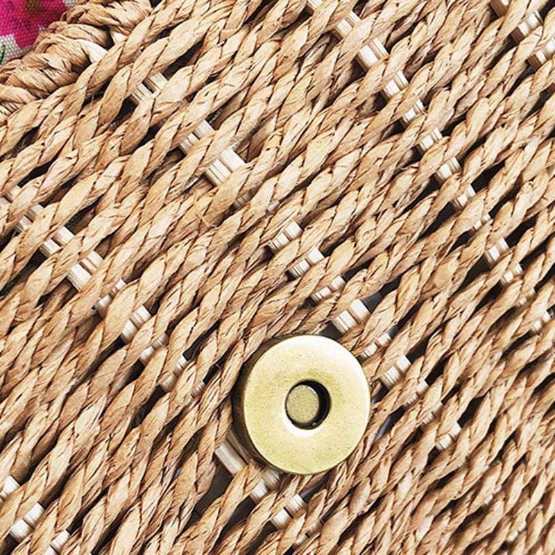 Women Lace Straw Bags INS Popular Female Holiday Handbag Summer Hot Lady Weave Shoulder Bag Travel Beach Casual Bolsa SS3150 (15)