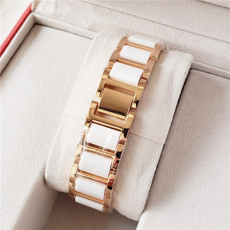 Baby Atem Intarsien-Uhr Keramik Rose Gold-Armbanduhr
