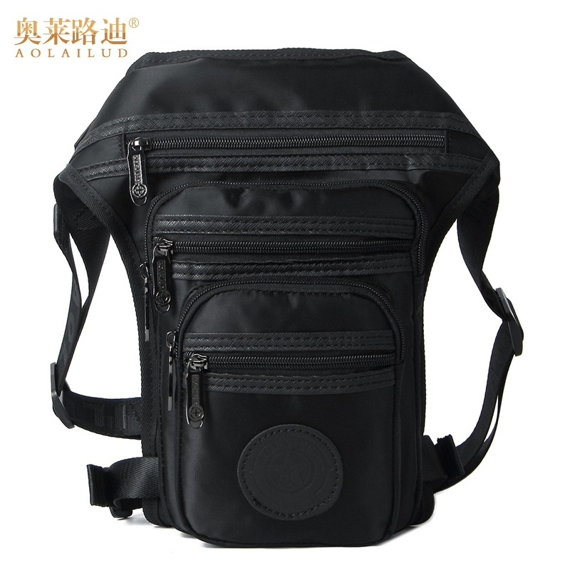 2017 new fashion waterproof canvas waist pack fanny men casual travel military bag quality thigh leg hip pouch