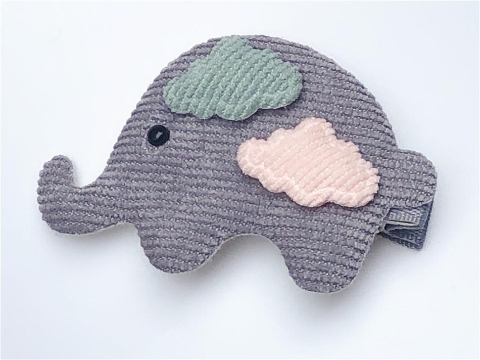 Boutique Fashion Cute Elephant Hairpins Solid Cartoon Animal Hair Clips Princess Headwear INS Fairy Hair Accessories