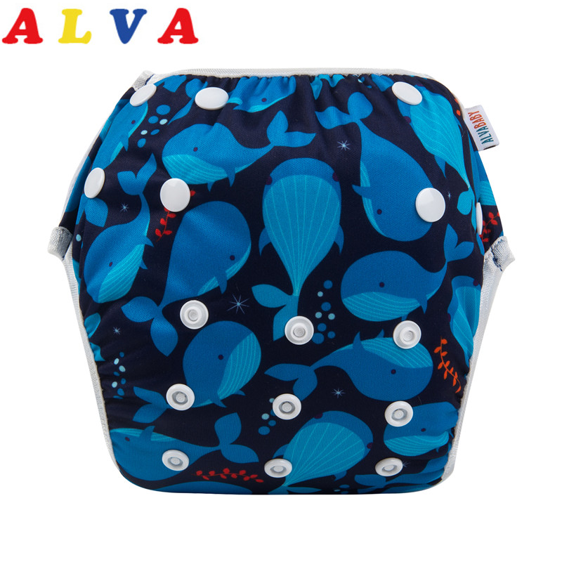 Alva Baby Adorables couches de bain r/églables et r/éutilisables lot de 2
