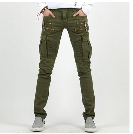 COOL Men/'s Multi Cargo Gothique Punk Rider Biker Jeans Harem Pantalon Loisirs M-2XL