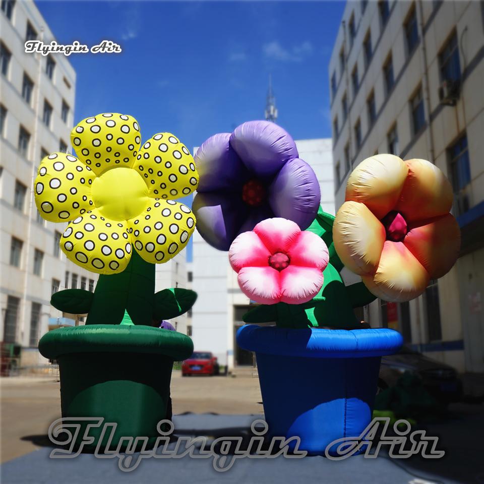 Pot De Fleur Haut Pas Cher modèle de tournesol de taille en pot artificielle en pot de la fleur 3.5m  artificielle de grandes plantes de simulation pour la décoration de  festival