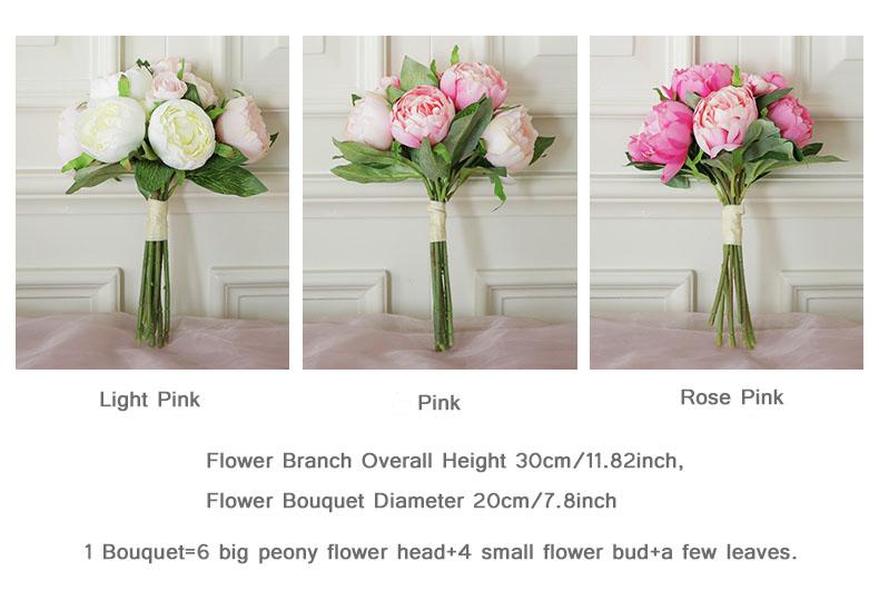 peony bouquet Wedding flower (15)