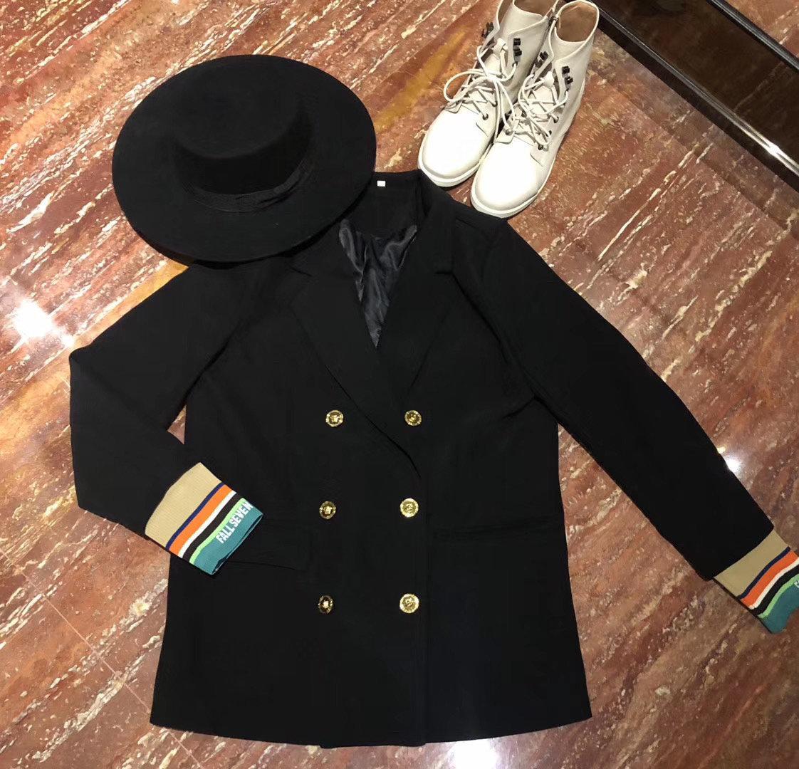 femmes manteau coupe-vent des femmes des longues survêtement femme section blazers impression personnalité Casual classique taille plus nouveau style Nouveautés