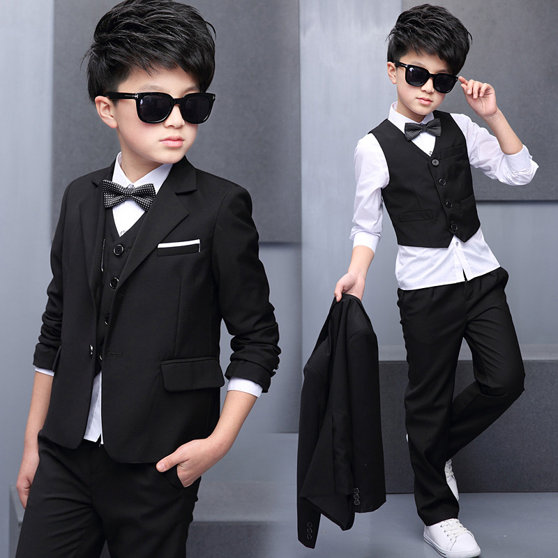 New Red Boys 3 Piece Suits Kid/'s Groom Suit Wedding Page Boy Baby Formal Party