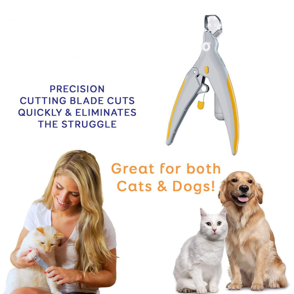 Professionals Pet Nail Clippers With LED Light&5X Magnifier For Dogs Cats Peticare Safety Dog Nail Trimmer Pet Claw Grinder 4