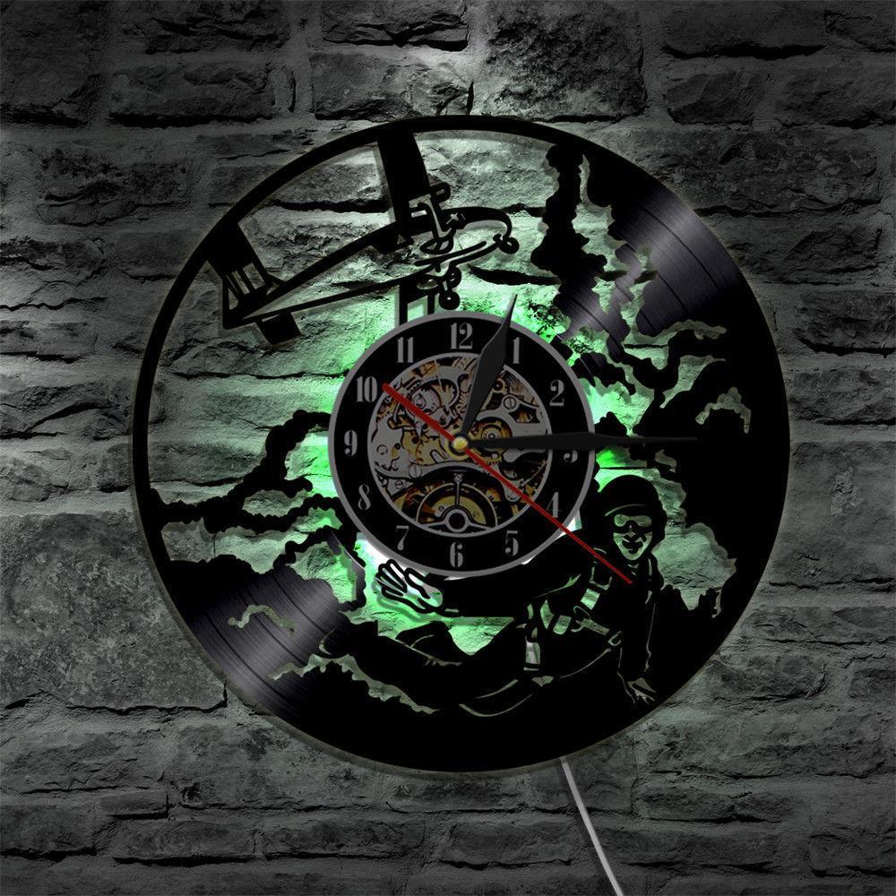 Modern Art 2019 LEDВиниловые Настенные Часы Современный Дизайн Ретро Часы Виниловые CD Часы Home Decor