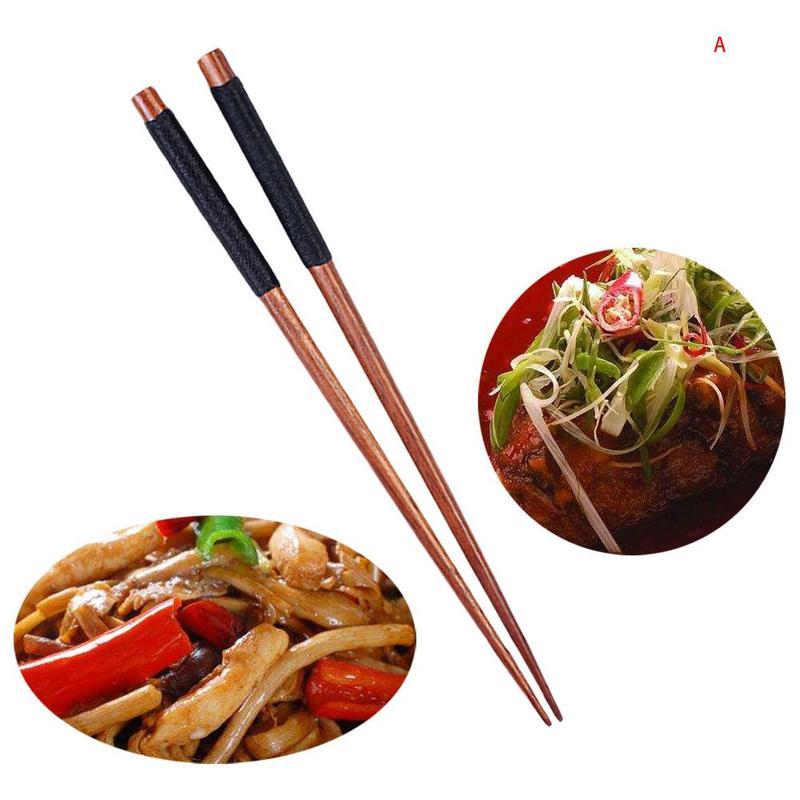 palillos de cocina palillos de comida largos fre/ír profundamente de madera Palillos de cocina de 42 cm de estilo chino
