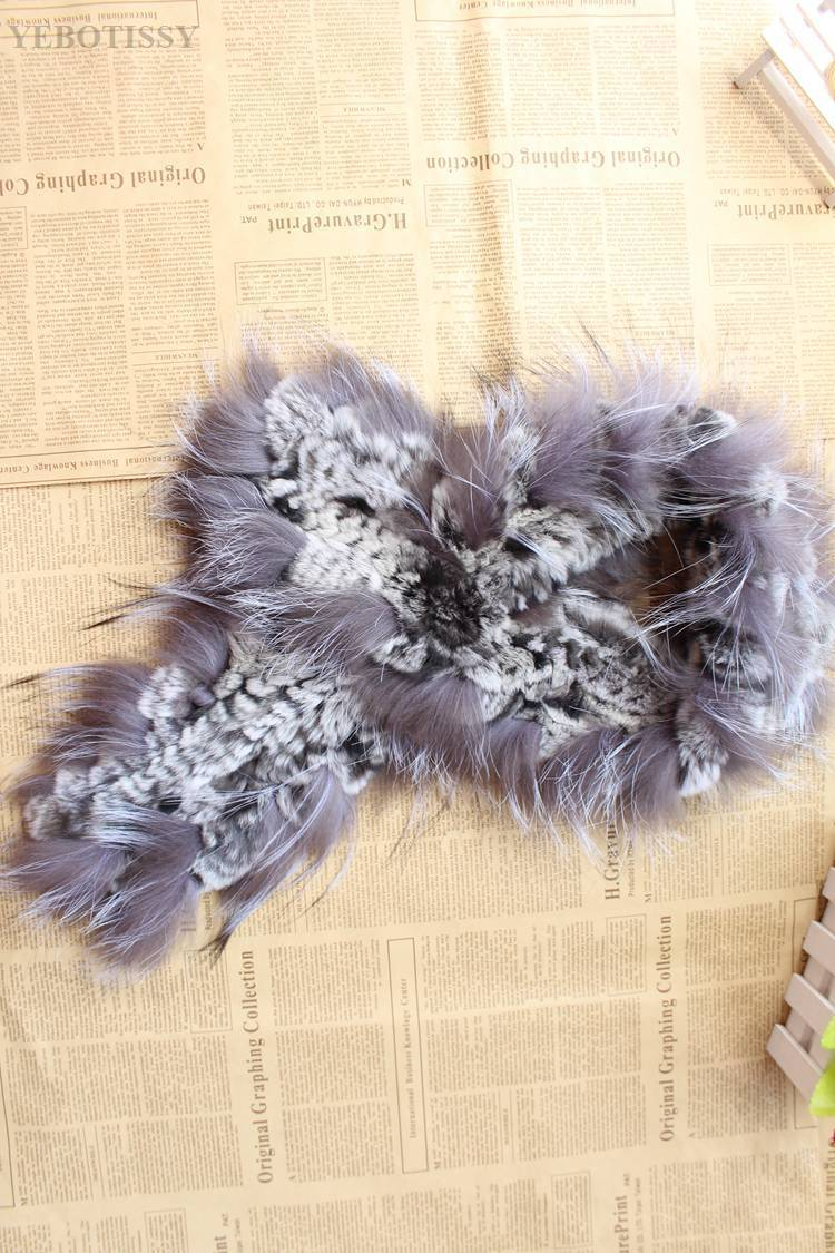 natural rex rabbit fur scarf silver fox fur (13)