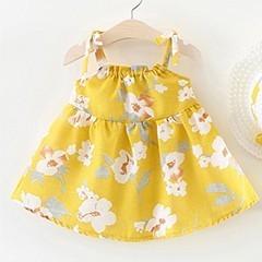 Baby-m-dchen-kleidung-Sommer-Kleid-Hut-2019-baby-kleidung-Gedruckt-Blume-Gurt-Stil-kinder-kleider (1)