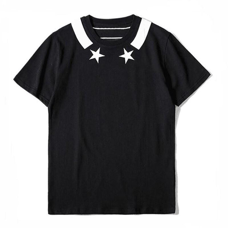 Camiseta de estampado Red Star Negro