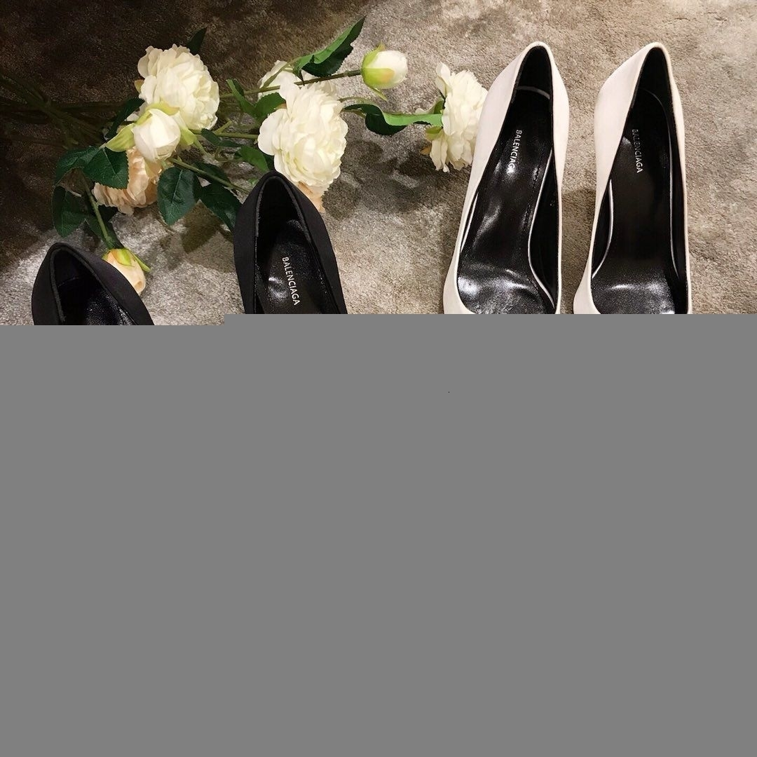 Fashion Spring Pointed Toe Ladies High Heel Shoes Black White Patent Dress Shoes good