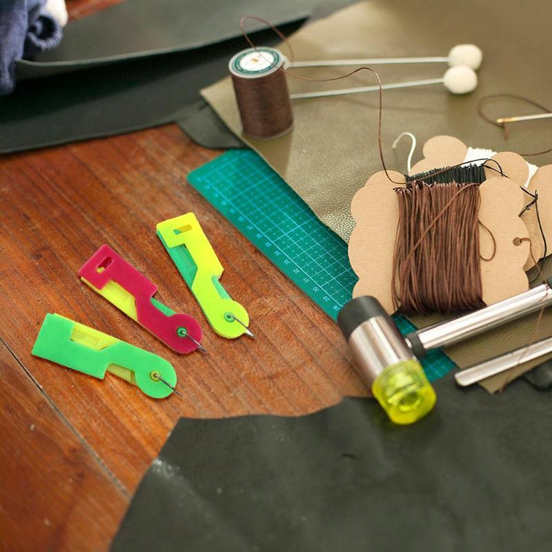 CULER 5pcs Set de Costura autom/ática enhebrador Herramientas Agujas de Tejer Dispositivo de gu/ía del enhebrador Accesorios de Costura