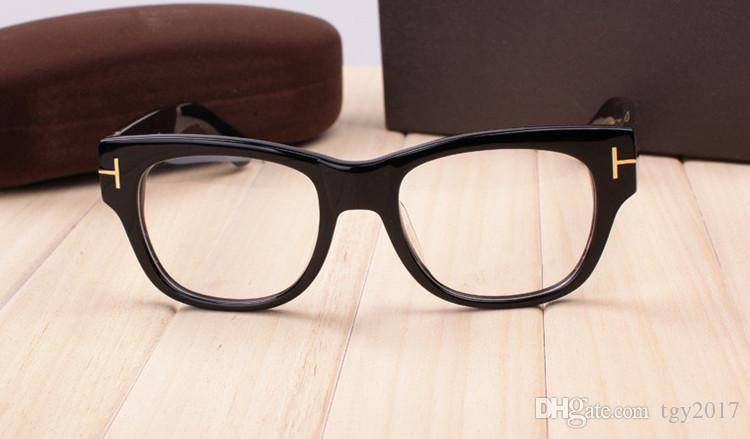 High-quality TF5040 glasses square pure-plank big frame 52-20-140 unisex prescription glasses full-set case OEM factory outlet