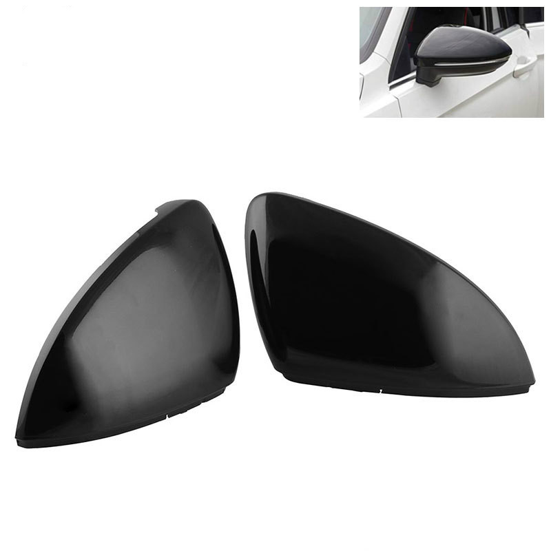 FOR FORD TOURNEO CUSTOM 2013-2018 NEW WING MIRROR COVER CAP BLACK PAIR SET
