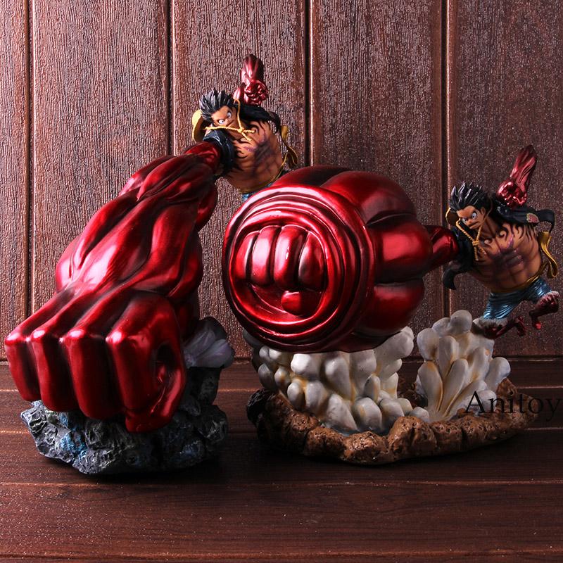 One Piece Figure Monkey D Luffy GEAR 4 Ape King Toy Model Statue Deco RUFY LUFFY