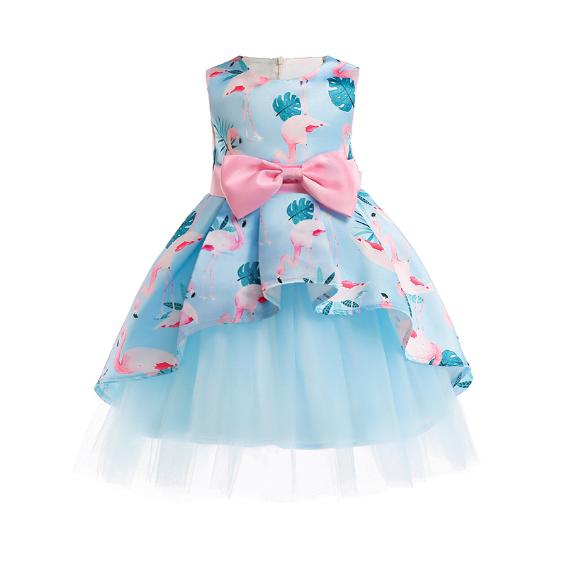 Flower Girls Princess Dress Children Wedding Party Dress Festive Clothes Kids Dresses For Girls 3-10 Years J190612