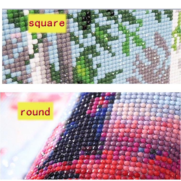 5D DIY полный алмазов картина синий цветок картина поделки или последующая окраска круглый квадрат сверла бриллиантового креста вышивки стежком комплекты украшения дома GIF
