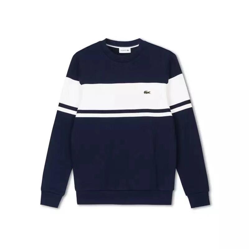 POLO da uomo blu a trama grossa a maglia Pullover maglione manica lunga invernale Top Taglia S-XXL