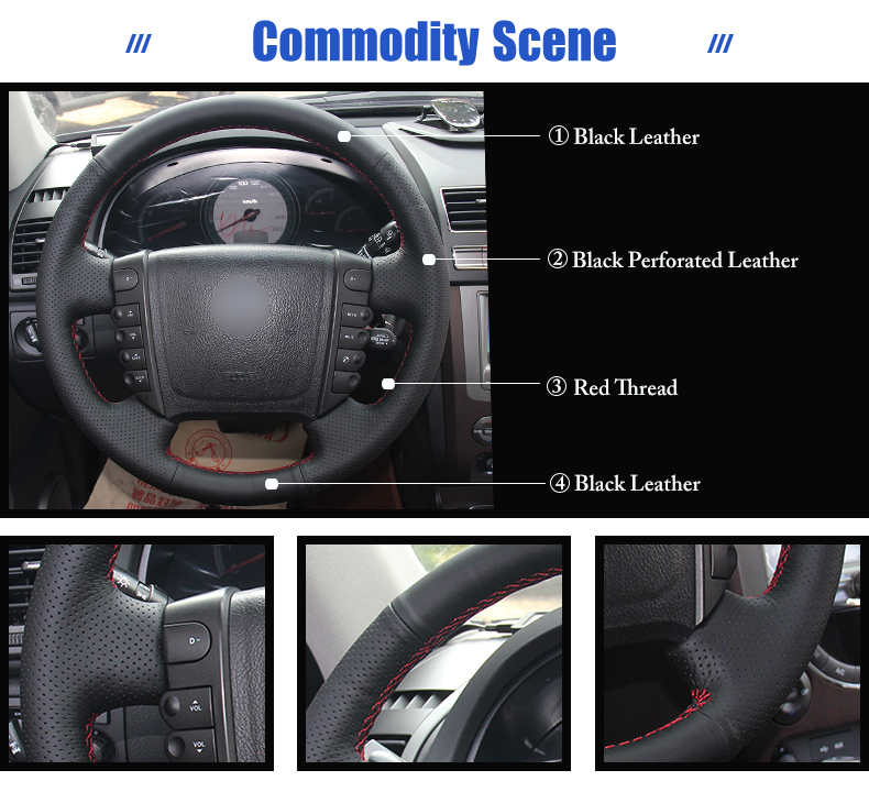 for Ssangyong Rexton steering wheel covers
