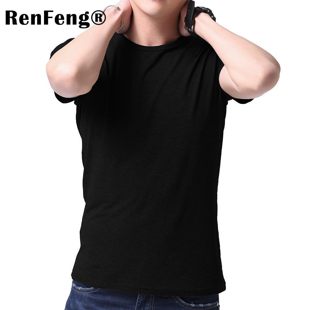 Fashion 2018 New Cool T-shirt Men Blank Tshirt Under shirt Tee Shirt Homme Short Sleeve Summer Tops Tees T shirt Male M-3XL (2)