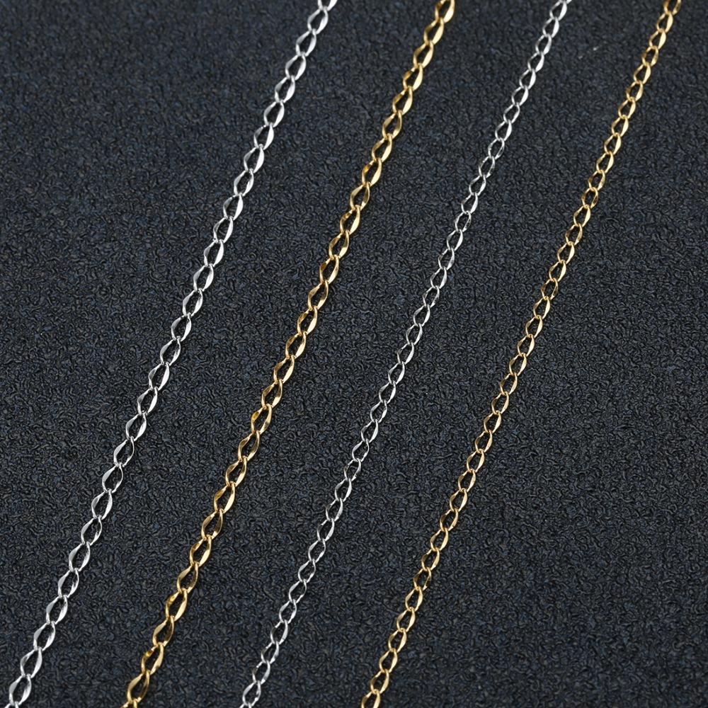 Rollo de 100 yarda//latón retorcido Cadenas De Oro Rosa para Pulsera Hágalo usted mismo 2x1.5x1mm
