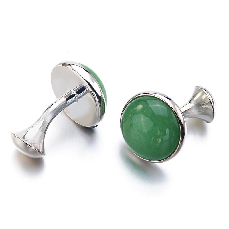 Green Stone Cufflinks (1)