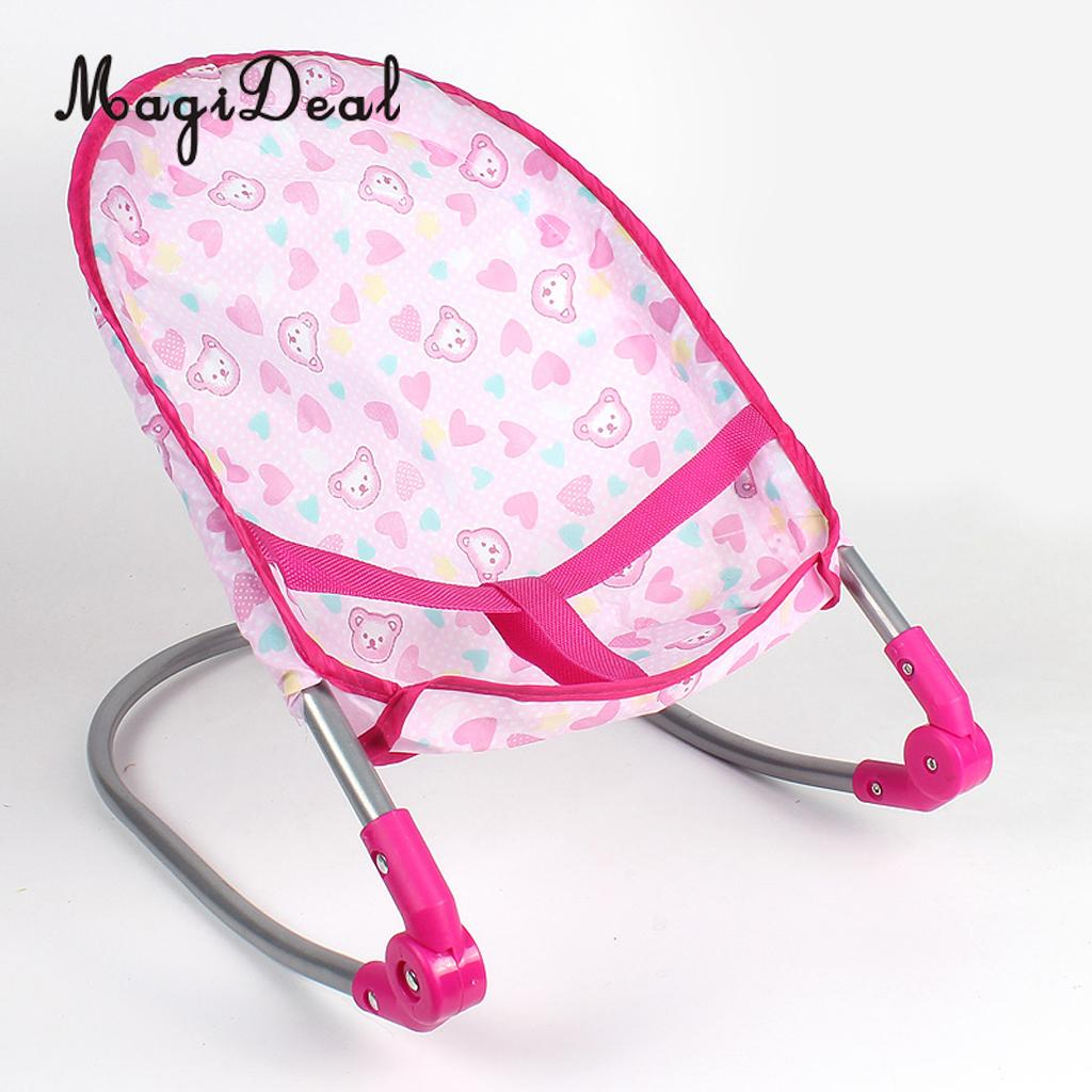 Simulation Newborn Baby Toddler Fun Play Pretend Furniture Bouncer Rocking Chair Model for Reborn Dolls Supplies