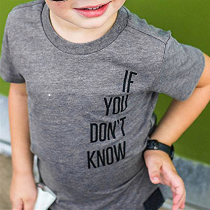 Summer Baby Boy Tops And Tees Toddler Infant Baby Boys Short Sleeve Two-sided Letter Print T-Shirt Tops Baby Boy Clothes M8Y24 (5)
